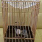 ヒバリ用竹製籠